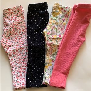 Lot of toddler girl leggings size 18-24 months